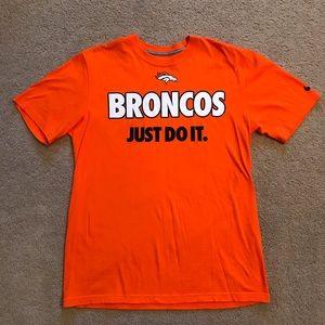 Denver Broncos Nike T-Shirt Orange Just Do It